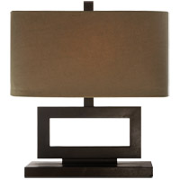 Visual Comfort SK3207AI-TL Suzanne Kasler Mod 16 inch 60 watt Aged Iron Table Lamp Portable Light in Taupe Linen