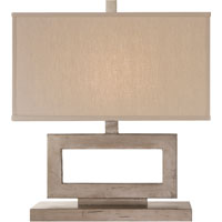 Visual Comfort Suzanne Kasler Mod 1 Light Decorative Table Lamp in Burnished Silver Leaf SK3207BSL-L
