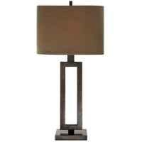 Visual Comfort SK3208AI-TL Suzanne Kasler Mod 28 inch 150 watt Aged Iron Table Lamp Portable Light in Taupe Linen