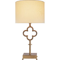 Visual Comfort Suzanne Kasler Quatrefoil 1 Light Decorative Table Lamp in Gilded Iron with Wax SK3500GI-L