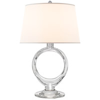 Visual Comfort SK3918CG-S Suzanne Kasler Olivia 21 inch 75 watt Crystal Table Lamp Portable Light, Suzanne Kasler, Silk Shade