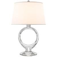 Visual Comfort SK3918CG-S Suzanne Kasler Olivia 21 inch 75 watt Crystal Table Lamp Portable Light, Suzanne Kasler, Silk Shade