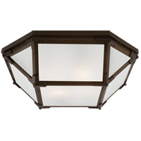 Visual Comfort SK4008AZ-FG Suzanne Kasler Morris 2 Light 16 inch Antique Zinc Flush Mount Ceiling Light