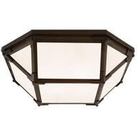 Visual Comfort SK4008AZ-WG Suzanne Kasler Morris LED 16 inch Antique Zinc Flush Mount Ceiling Light