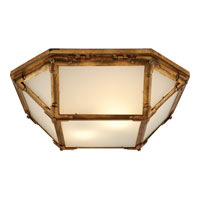 Visual Comfort Suzanne Kasler Morris 2 Light Flush Mount in Gilded Iron with Wax SK4008GI-FG