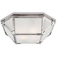 Visual Comfort SK4008PN-FG Suzanne Kasler Morris 2 Light 16 inch Polished Nickel Flush Mount Ceiling Light