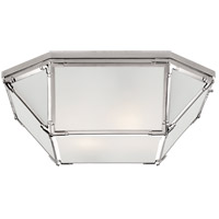 Suzanne Kasler Morris 4 Light 20 inch Polished Nickel Flush Mount Ceiling Light, Large