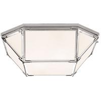 Visual Comfort SK4009PN-WG Suzanne Kasler Morris LED 20 inch Polished Nickel Flush Mount Ceiling Light Large