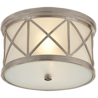 Visual Comfort SK4010AN-FG Suzanne Kasler Montpelier 2 Light 11 inch Antique Nickel Flush Mount Ceiling Light