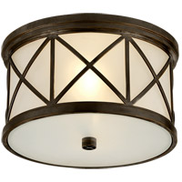 Visual Comfort SK4010BZ-FG Suzanne Kasler Montpelier 2 Light 11 inch Bronze Flush Mount Ceiling Light