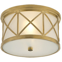 Visual Comfort SK4010HAB-FG Suzanne Kasler Montpelier 2 Light 11 inch Hand-Rubbed Antique Brass Flush Mount Ceiling Light