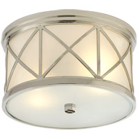 Visual Comfort SK4010PN-FG Suzanne Kasler Montpelier 2 Light 11 inch Polished Nickel Flush Mount Ceiling Light