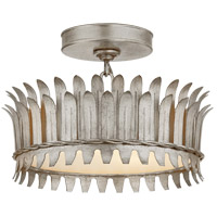 Visual Comfort SK4205BSL Suzanne Kasler Leslie LED 12 inch Burnished Silver Leaf Semi-Flush Mount Ceiling Light