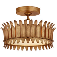 Visual Comfort SK4205GI Suzanne Kasler Leslie LED 12 inch Gilded Iron Semi-Flush Mount Ceiling Light