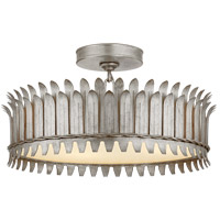 Visual Comfort SK4206BSL Suzanne Kasler Leslie LED 17 inch Burnished Silver Leaf Semi-Flush Mount Ceiling Light