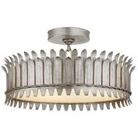 Visual Comfort SK4206BSL Suzanne Kasler Leslie LED 17 inch Burnished Silver Leaf Semi-Flush Mount Ceiling Light