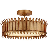 Visual Comfort SK4206GI Suzanne Kasler Leslie LED 17 inch Gilded Iron Semi-Flush Mount Ceiling Light