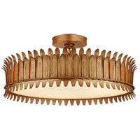 Visual Comfort SK4207GI Suzanne Kasler Leslie LED 21 inch Gilded Iron Semi-Flush Mount Ceiling Light
