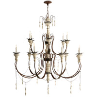 Visual Comfort SK5001NR/OW Suzanne Kasler Percival 15 Light 47 inch Natural Rust with Old White Chandelier Ceiling Light
