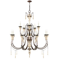 Suzanne Kasler Percival 13 Light 38 inch Natural Rust with Old White Chandelier Ceiling Light