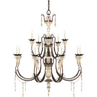 Visual Comfort Suzanne Kasler Percival 13 Light Chandelier in Natural Rust with Old White SK5002NR/OW