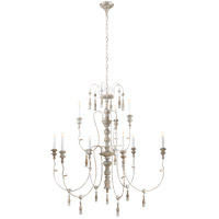 Visual Comfort Suzanne Kasler Michele 9 Light Chandelier in Belgian White  SK5003BW