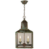 Visual Comfort Suzanne Kasler Brantley 2 Light Outdoor Hanging Lantern in Verdigris SK5007VG