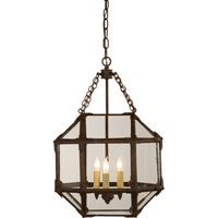 Visual Comfort Suzanne Kasler Morris 3 Light Ceiling Lantern in Antique Zinc SK5008AZ-CG