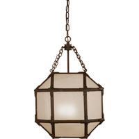 Suzanne Kasler Morris 3 Light 14 inch Antique Zinc Foyer Pendant Ceiling Light in Frosted Glass