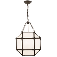 Visual Comfort SK5008AZ-WG Suzanne Kasler Morris 3 Light 14 inch Antique Zinc Lantern Pendant Ceiling Light, Small