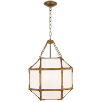 Visual Comfort SK5008GI-WG Suzanne Kasler Morris 3 Light 14 inch Gilded Iron Lantern Pendant Ceiling Light, Small