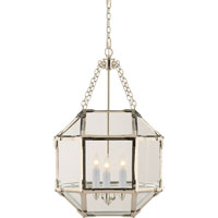 Suzanne Kasler Morris 3 Light 14 inch Polished Nickel Foyer Pendant Ceiling Light in Clear Glass