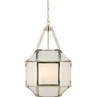 Suzanne Kasler Morris 3 Light 14 inch Polished Nickel Foyer Pendant Ceiling Light in Frosted Glass