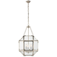 Visual Comfort SK5008PN-CG Suzanne Kasler Morris 3 Light 14 inch Polished Nickel Foyer Pendant Ceiling Light in Clear Glass
