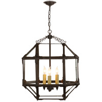 Suzanne Kasler Morris 3 Light 19 inch Antique Zinc Foyer Pendant Ceiling Light in Clear Glass