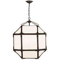 Visual Comfort SK5009AZ-WG Suzanne Kasler Morris 3 Light 19 inch Antique Zinc Lantern Pendant Ceiling Light, Medium