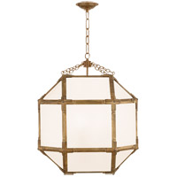 Visual Comfort SK5009GI-WG Suzanne Kasler Morris 3 Light 19 inch Gilded Iron Lantern Pendant Ceiling Light, Medium