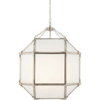 Visual Comfort Suzanne Kasler Morris 3 Light Ceiling Lantern in Polished Nickel SK5009PN-FG