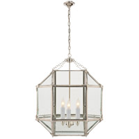 Visual Comfort SK5009PN-CG Suzanne Kasler Morris 3 Light 19 inch Polished Nickel Foyer Pendant Ceiling Light in Clear Glass