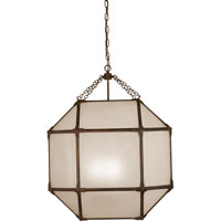 Suzanne Kasler Morris 3 Light 23 inch Antique Zinc Foyer Pendant Ceiling Light in Frosted Glass