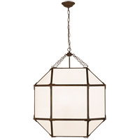 Visual Comfort SK5010AZ-WG Suzanne Kasler Morris 3 Light 23 inch Antique Zinc Lantern Pendant Ceiling Light, Large