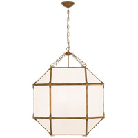 Visual Comfort SK5010GI-WG Suzanne Kasler Morris 3 Light 23 inch Gilded Iron Lantern Pendant Ceiling Light, Large