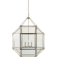 Visual Comfort SK5010PN-CG Suzanne Kasler Morris 3 Light 23 inch Polished Nickel Foyer Pendant Ceiling Light in Clear Glass