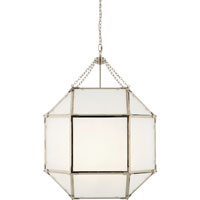 Suzanne Kasler Morris 3 Light 23 inch Polished Nickel Foyer Pendant Ceiling Light in Frosted Glass
