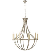 Visual Comfort Suzanne Kasler Seymor 10 Light Chandelier in Belgian White  SK5012BW