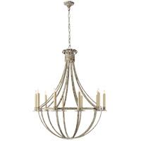 Visual Comfort SK5012BW Suzanne Kasler Seymor 10 Light 34 inch Belgian White Chandelier Ceiling Light