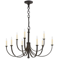 Visual Comfort SK5021AI Suzanne Kasler Reims 9 Light 36 inch Aged Iron Chandelier Ceiling Light, Medium