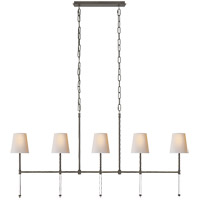 Visual Comfort SK5055BZ-NP Suzanne Kasler Camille 5 Light 53 inch Bronze Linear Chandelier Ceiling Light, Medium