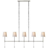Suzanne Kasler Camille 5 Light 53 inch Polished Nickel Linear Chandelier Ceiling Light, Medium
