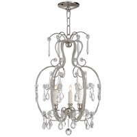 Visual Comfort Suzanne Kasler Hurley 3 Light Chandelier in Polished Nickel SK5100PN
